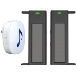 NAS Driveway Alarm Solar Beams & Indoor Chime Alert Range 500M (DW-N81B500M)