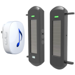 NAS Solar Driveway Alert Long Distance with Plug In Indoor Chime Alert (DW-N81B1KM)