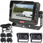 """5"""" Caravan Reversing Camera Kit With High Quality Cameras on the Back of the Caravan for Driving & Reversing includes Two Camera Woza Cable"""