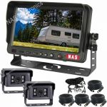 "7"" Caravan Reversing Camera Kit With Two High Quality Cameras on the Back of the Caravan for Driving & for Reversing includes Two Camera Woza Cable"