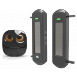 Driveway Alarm Wireless Long Range up to 1Km from the Owl Shaped Indoor Chime Alarm (DW-R089B1KM)
