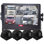 9-inch Quad Monitor with Sideview 90º Waterproof Cameras with Adjustable EyeBall Focus (R-MSQ9364*32)