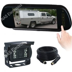 """7"""" Mirror Reversing Camera Monitor System With Touch Button Mirror Monitor"""