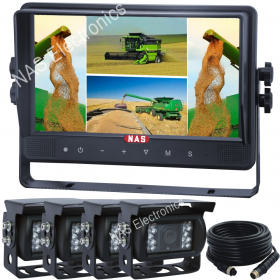 9 inch Quad Cabled Monitor