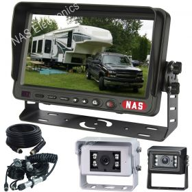 """7"""" Caravan Reversing Camera Kit With 30° Cameras on the Back of the Caravan for Driving includes One Camera Woza Cable"""