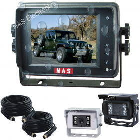 5inch 4 x 4  Rear Vision Camera Waterproof Monitor Kit With Two Cameras