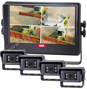 """Commercial Grade 9"""" Quad Monitor with Robust Cameras Choose Camera Angles"""