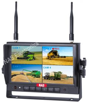 "High Quality 7"" TFT LCD Digital Wireless Quad DVR Monitor"