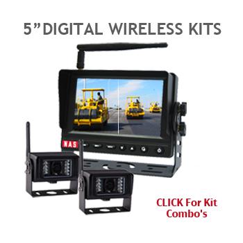 5inch Digital Wireless backup camera Kits
