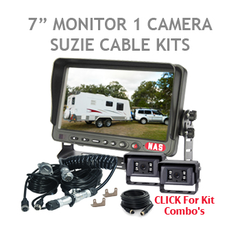 7inch Caravan Backup Camera Kit with Curly Cable