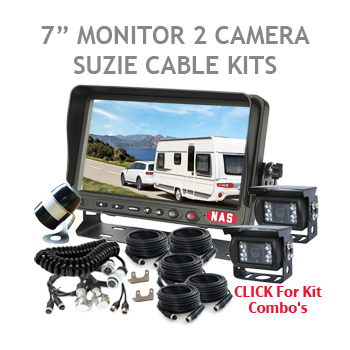 Two Camera for the Back of the Caravan and One Camera on the Back of the Car for Backing Up