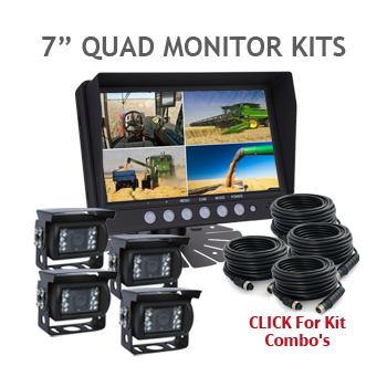 7inch Quad Monitor and Backup Camera Kits