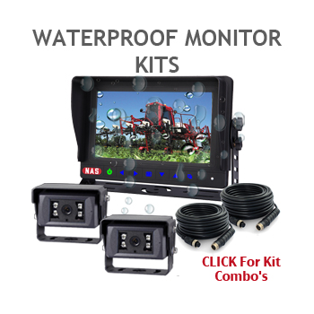 Waterproof 7inch backup camera monitor monitors