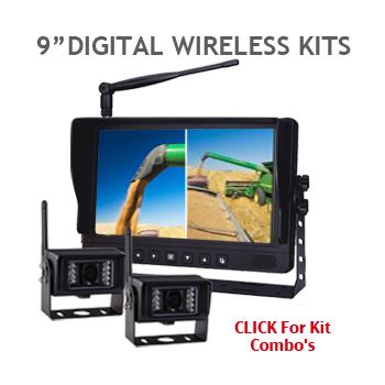9 inch Two Camera Digital Wireless Backup Camera Kits