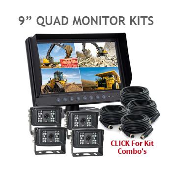 9inch Quad Backup Camera Kits