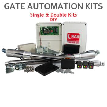 Single & Double Solar Swing Gates Automation Kits Image shows Double