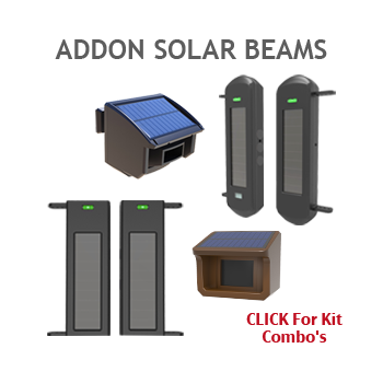 Extra Solar Beams Can be Added to Driveway Alarm Chimes