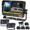 """7"""" Caravan Reversing Camera Kit With Two High Quality Cameras on the Back of the Caravan for Driving & for Reversing includes Two Camera Woza Cable"""