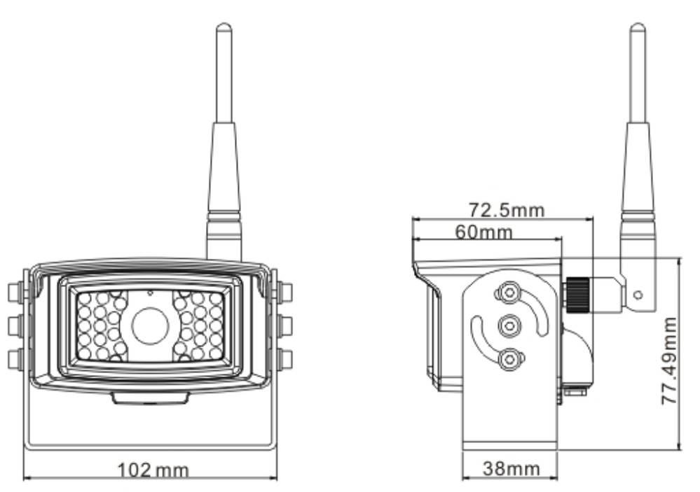 Size of Digital Wireless Cameras