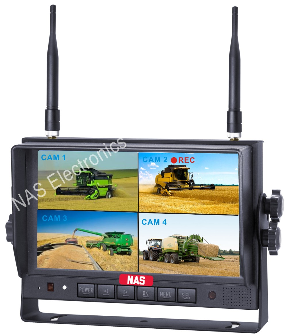 7inch Car Reversing Quad DVR Monitor