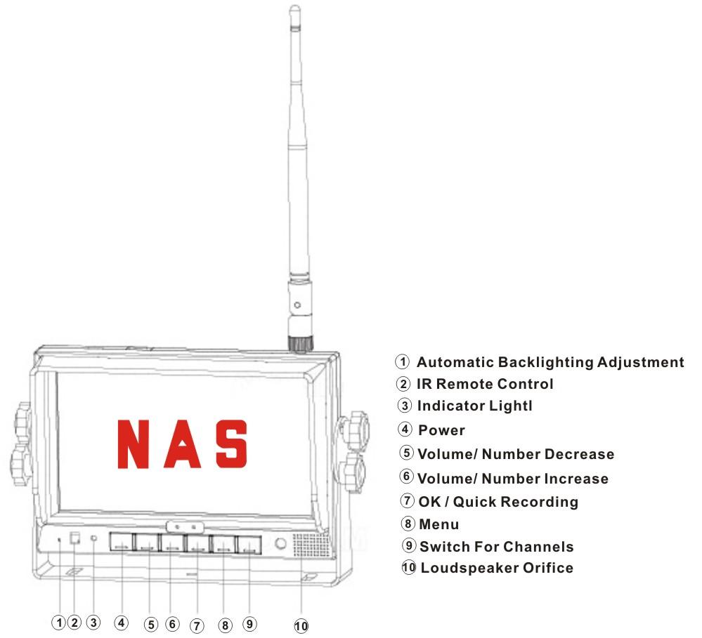 "9"" Digital Wireless monitor controls"