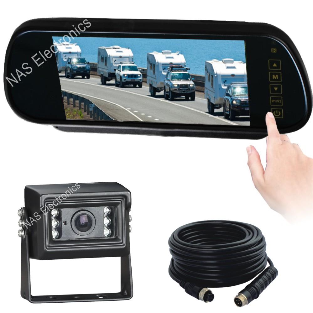 Car Reversing Mirror Monitor Camera Kit